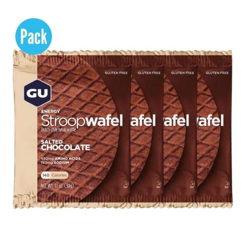 Barra GU Energy Running Stroop Wafel Salted Chocolate Pack 4 Azul