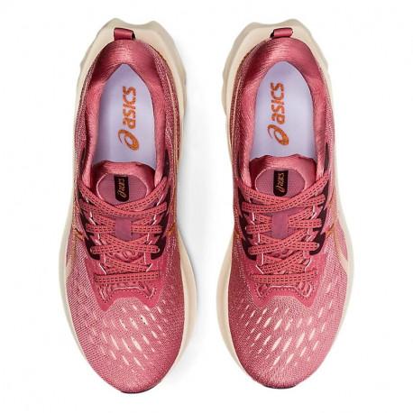 Tenis Asics Running Novablast 2 Rosa Mujer