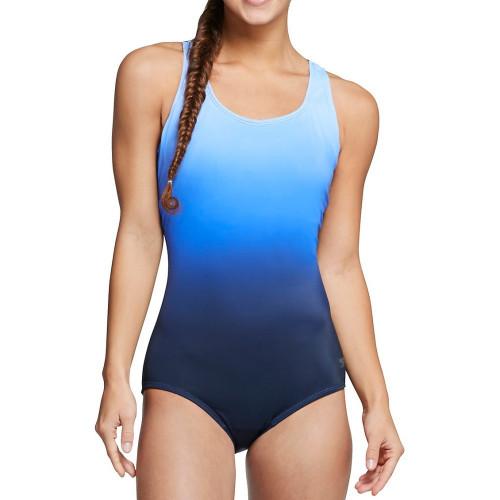 Traje de baño Speedo Playa Ombre Ultraback One Piece Azul Mujer