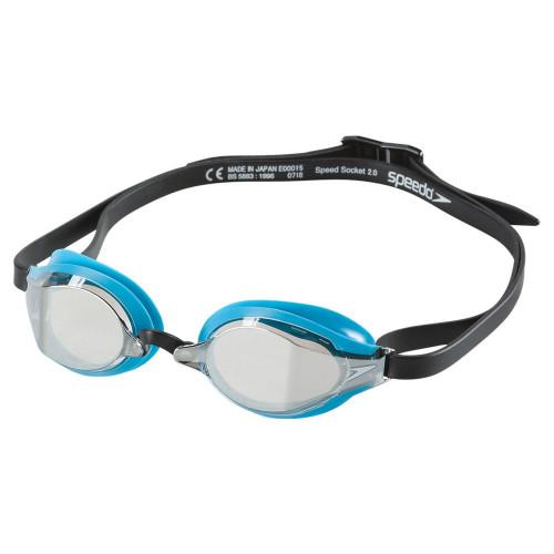 Goggles Speedo Natación Speed Socket 2.0 Mirrored Negro