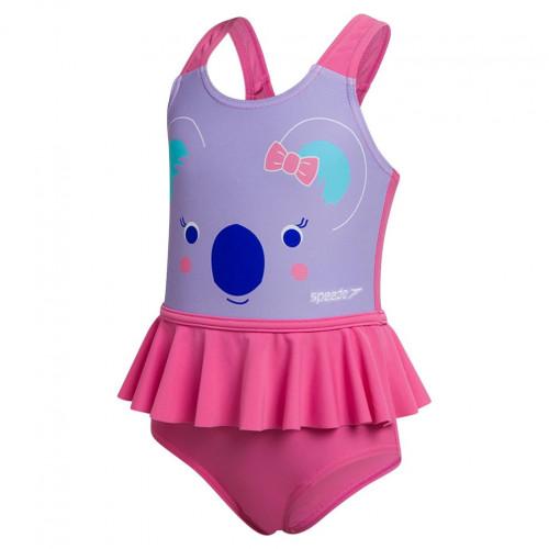 Traje de baño Speedo Playa Koko Koala Frill Swimsuit Morado Kids