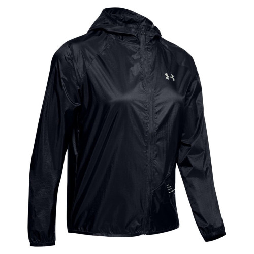Chamarra Under Armour Fitness Qlifier Packable Negro Mujer