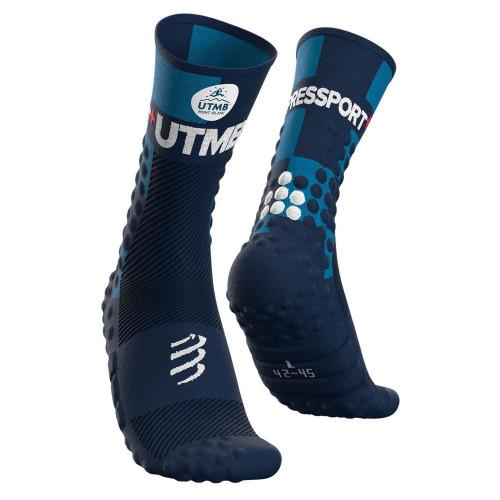 Calcetines Compressport Trail Running Pro Racing v3.0 Ultra Trail UTMB LTD Azul