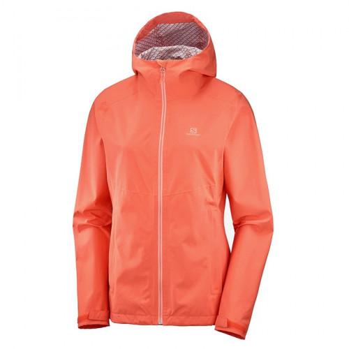 Chamarra Salomon Outdoor La Cote Flex 2.5L Naranja Mujer