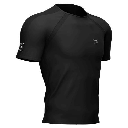 Camisa Compressport Running Training Negro Hombre