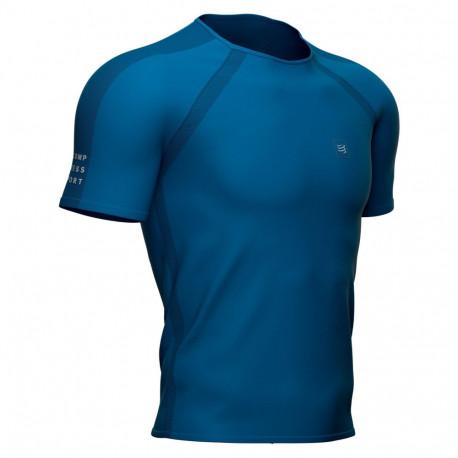 Camisa Compressport Running Training Azul Hombre