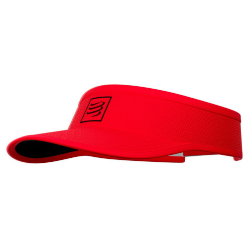 Visera Compressport Running Curva Rojo