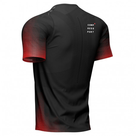 Camisa Compressport Running Racing Negro Hombre