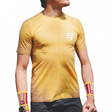 Camisa Compressport Running Racing Amarillo Hombre