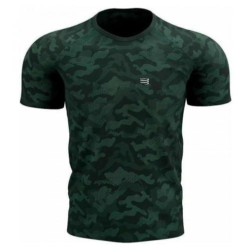 Camisa Compressport Running TrainingCamoPremium Verde Hombre