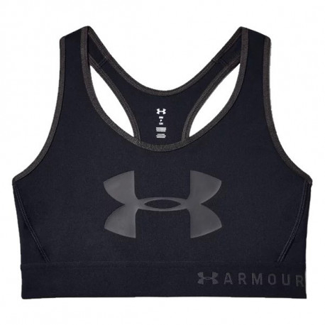 Top Under Armour Fitness Mid Keyhole Graphic Negro Mujer