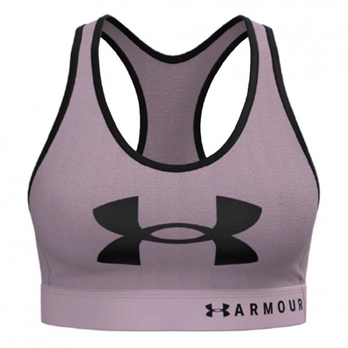 Top Under Armour Fitness Mid Keyhole Graphic Rosa Mujer