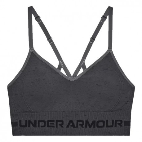 Sports Bra Under Armour Fitness Seamless Low Long Gris Mujer