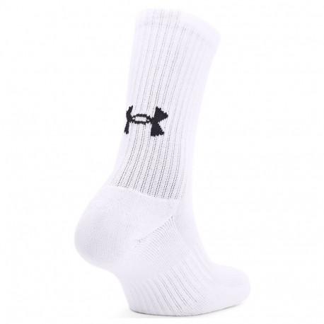 Calcetines Under Armour Fitness Core Crew Blanco