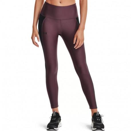 Leggings Under Armour Fitness HeatGear Panel Ankle Morado Mujer