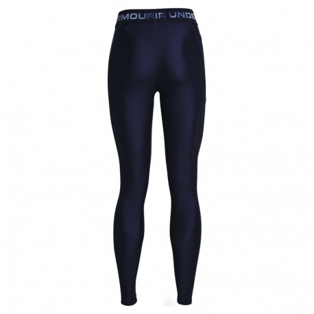 Leggings Under Armour Fitness Heatgear Wordmark Waistband Azul Mujer