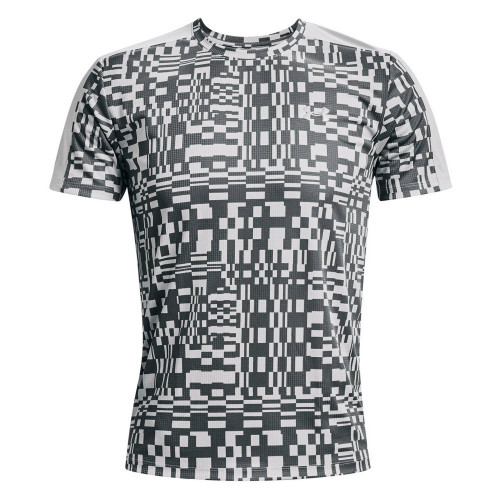 Playera Under Armour Running Speed Stride Printed Gris Hombre