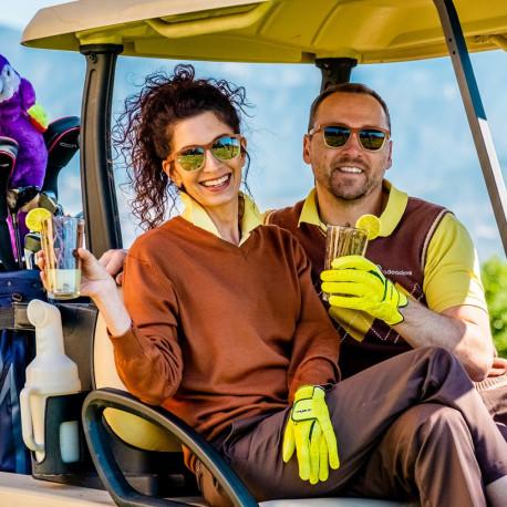 Lentes Goodr Golf Three Parts Tee Blanco