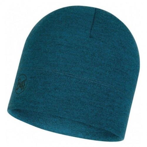 Gorro Buff Outdoor MW Merino Wool Ocean Melange Azul