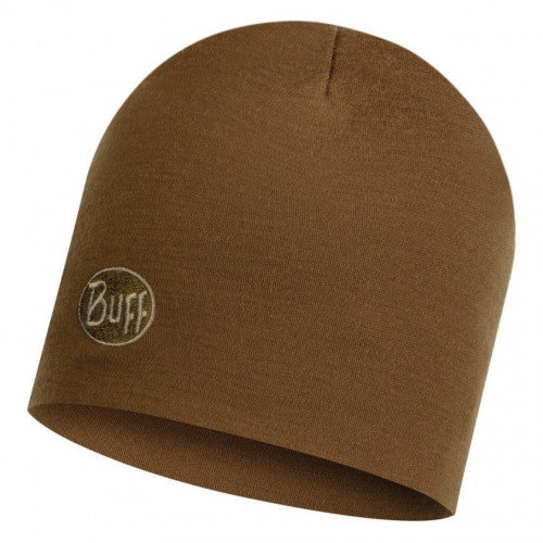 Gorro Buff Outdoor HW Merino Wool Regular Solid Tundra Khaky Cafe