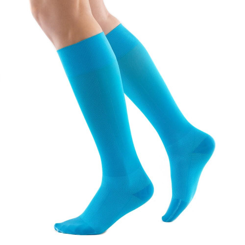 Calcetines Bauerfeind Multisport Long Run & Walk Compresion Azul