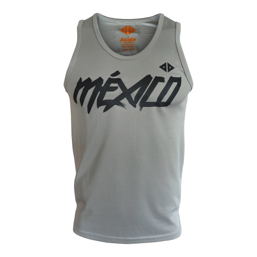 Tank Top Acide Sportswear Running Mexico Quetzalcoatl Gris Hombre