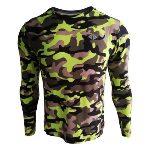 Playera Acide Sportswear Running Camuneon Multicolor Hombre