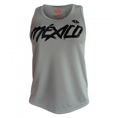 Tank Top Acide Sportswear Running Mexico Quetzalcoatl Gris Mujer
