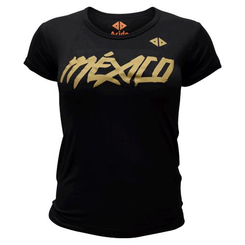 Playera Running Acide Sportswear México Quetzalcoatl Negro Mujer