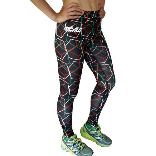 Leggings Running Acide Sportswear  Conti Tricolor Negro Mujer